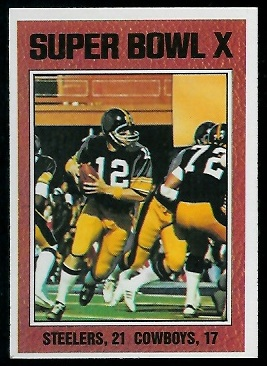 Super Bowl X 1976 Topps football card