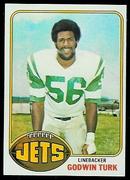 Godwin Turk 1976 Topps football card