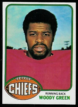 Woody Green 1976 Topps football card
