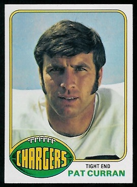 Pat Curran 1976 Topps football card