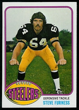 Steve Furness 1976 Topps football card
