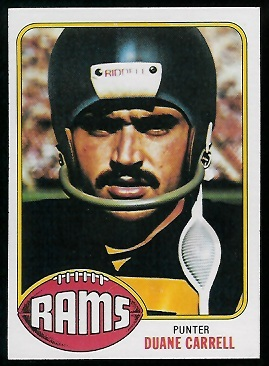 Duane Carrell 1976 Topps football card