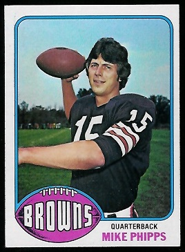 Mike Phipps 1976 Topps football card
