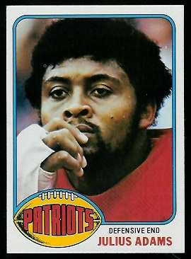 Julius Adams 1976 Topps football card