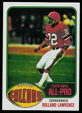Rolland Lawrence 1976 Topps football card