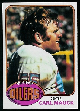 Carl Mauck 1976 Topps football card