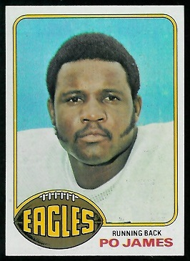 Po James 1976 Topps football card