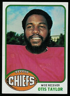Otis Taylor 1976 Topps football card