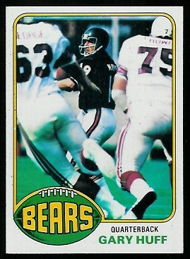 Gary Huff 1976 Topps football card