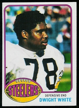 Dwight White 1976 Topps football card
