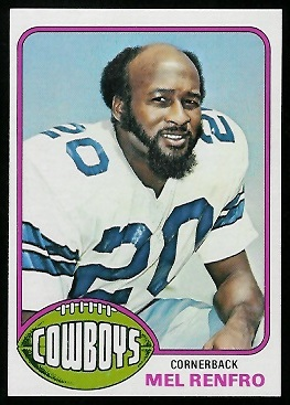 Mel Renfro 1976 Topps football card