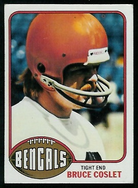 Bruce Coslet 1976 Topps football card