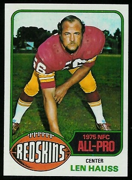 Len Hauss 1976 Topps football card