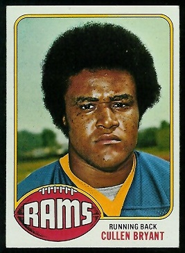 Cullen Bryant 1976 Topps football card
