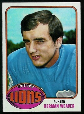 Herman Weaver 1976 Topps football card