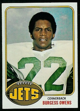 Burgess Owens 1976 Topps football card