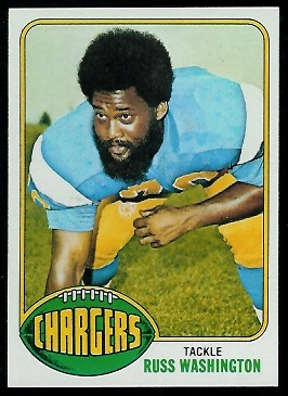 Russ Washington 1976 Topps football card