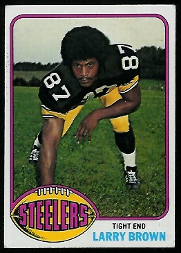 Larry Brown - 1976 Topps #381 - Vintage Football Card Gallery