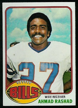 Ahmad Rashad 1976 Topps football card