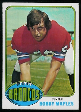 Bobby Maples 1976 Topps football card