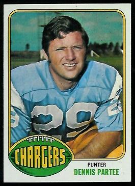 Dennis Partee 1976 Topps football card
