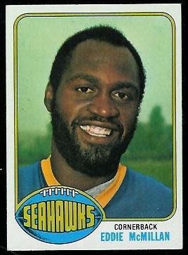 Eddie McMillan 1976 Topps football card