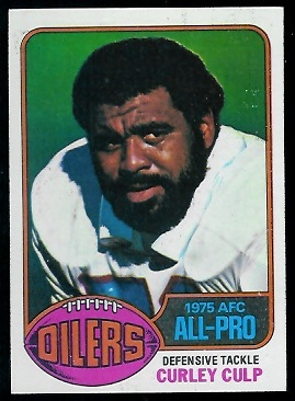 Curley Culp 1976 Topps football card