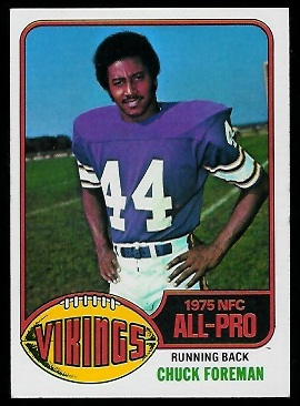 Chuck Foreman 1976 Topps football card