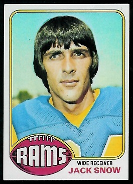 Jack Snow 1976 Topps football card
