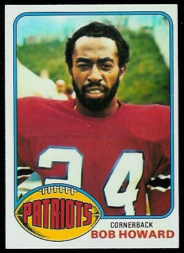 Bob Howard 1976 Topps football card