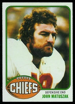 John Matuszak 1976 Topps football card