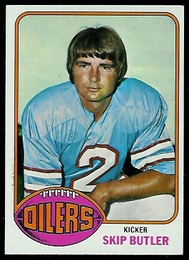 Skip Butler 1976 Topps football card
