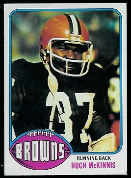 Hugh McKinnis 1976 Topps football card