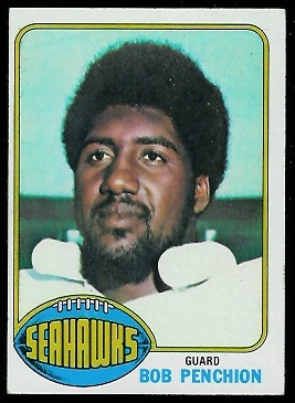 Bob Penchion 1976 Topps football card