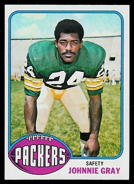 Johnnie Gray 1976 Topps football card