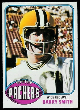 Barry Smith 1976 Topps football card