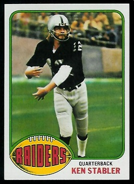 Ken Stabler 1976 Topps football card