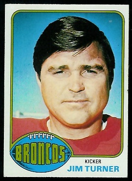 Jim Turner 1976 Topps football card