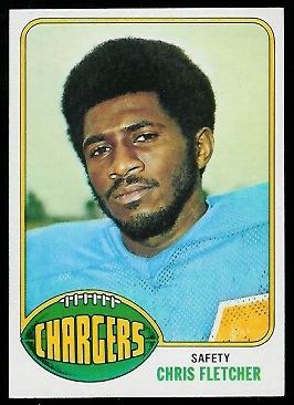 Chris Fletcher 1976 Topps football card
