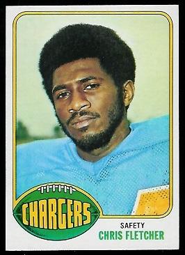 Chris Fletcher 1976 Topps football card