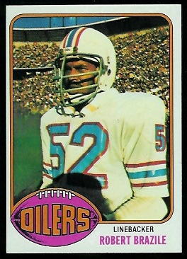 Robert Brazile 1976 Topps football card