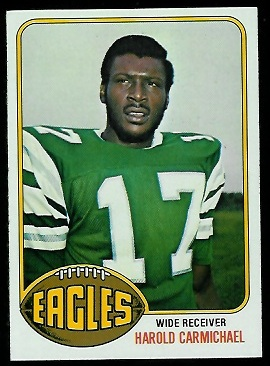 Harold Carmichael 1976 Topps football card