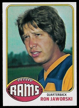 Ron Jaworski 1976 Topps football card