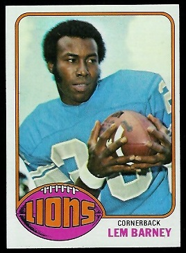 Lem Barney 1976 Topps football card