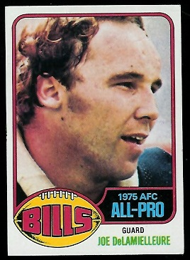 Joe DeLamielleure 1976 Topps football card