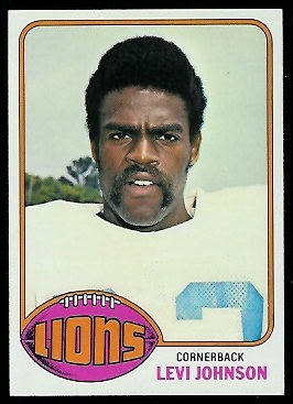 Levi Johnson 1976 Topps football card