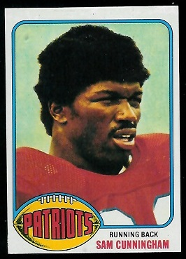 Sam Cunningham 1976 Topps football card