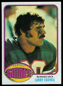Larry Csonka 1976 Topps football card