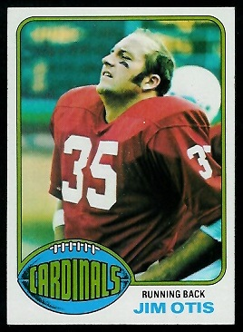 Jim Otis 1976 Topps football card