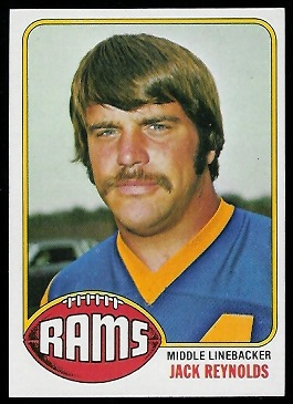 Jack Reynolds 1976 Topps football card